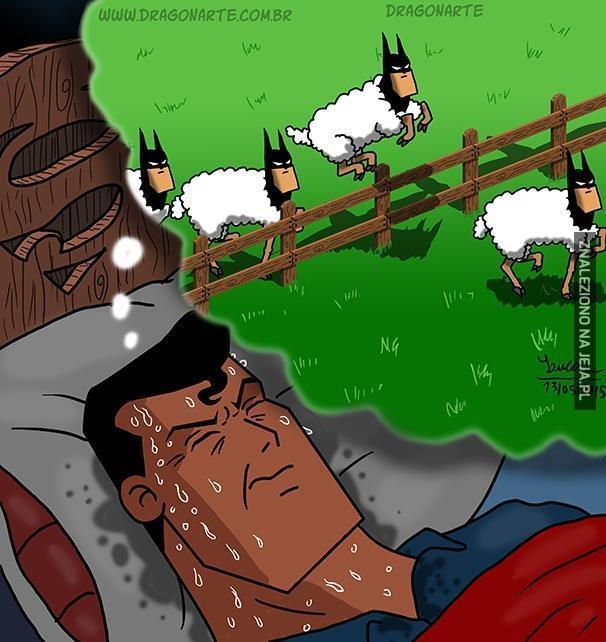 Żeby zasnąć liczę... Batmany?