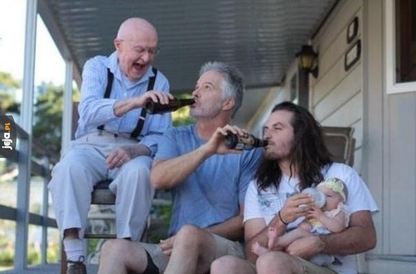 Cztery pokolenia na jednym zdjęciu