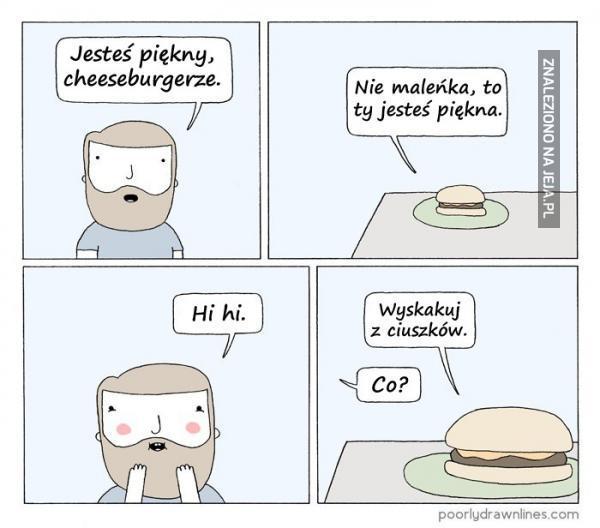 Dzisiejsze cheeseburgery są okropnie niewyżyte
