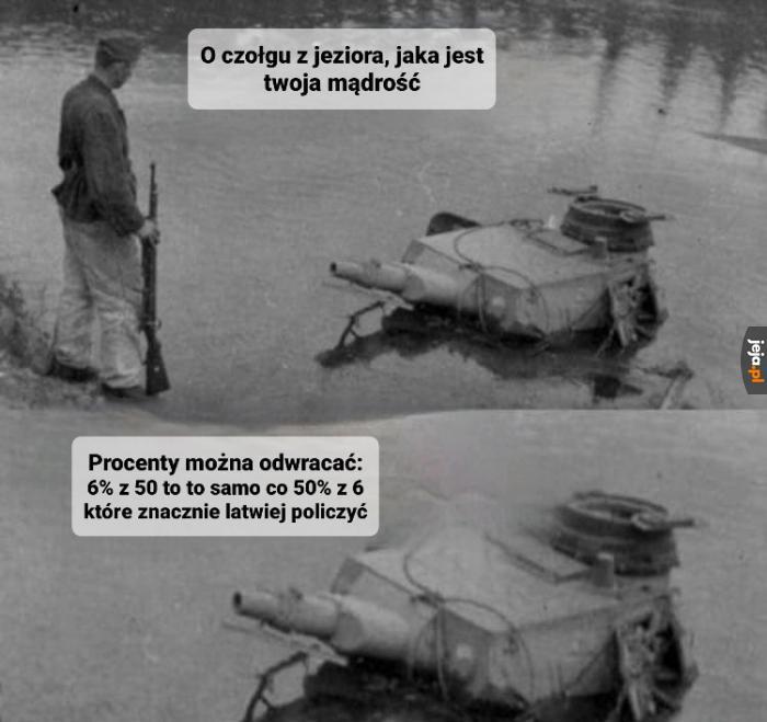 Czołg z jeziora bawi i uczy