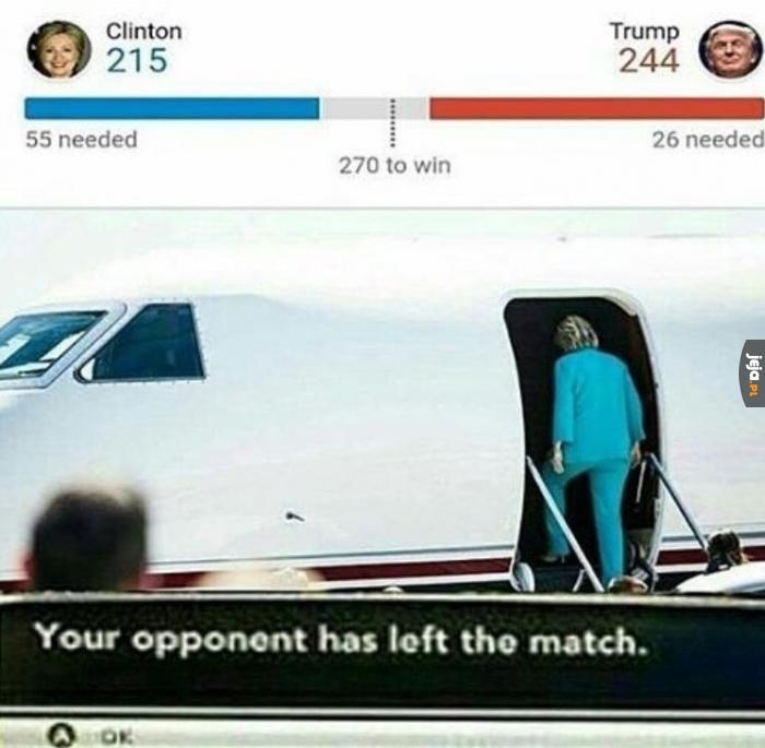 Twój przeciwnik opuścił mecz