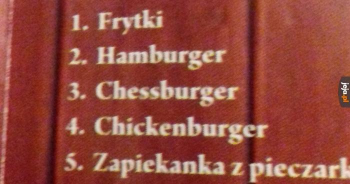Ciekawe, czy dobre takie szachowe burgery?