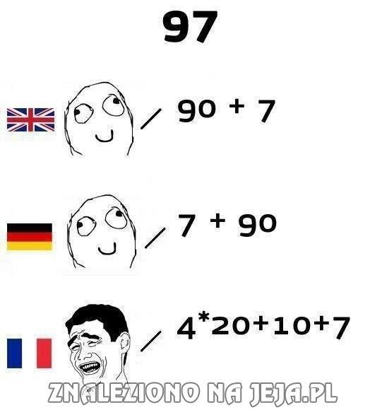 Wymawianie liczb w innych językach