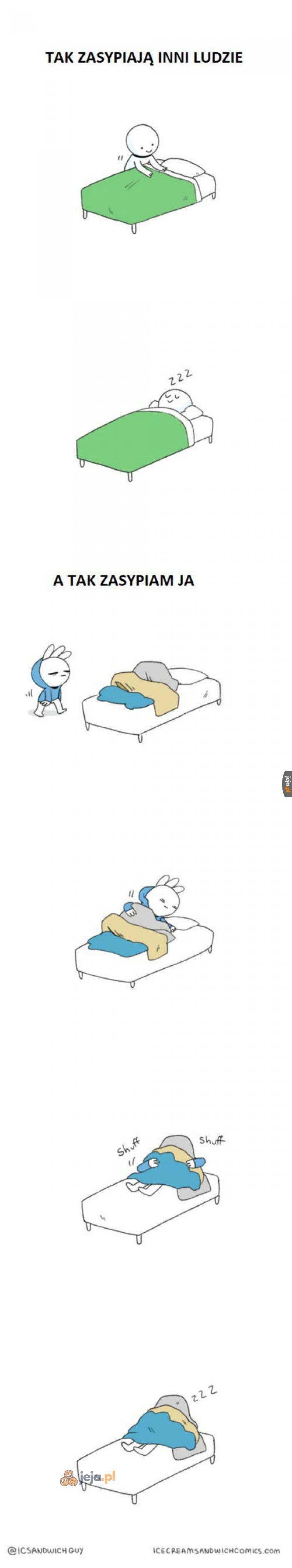 A Ty jak zasypiasz?