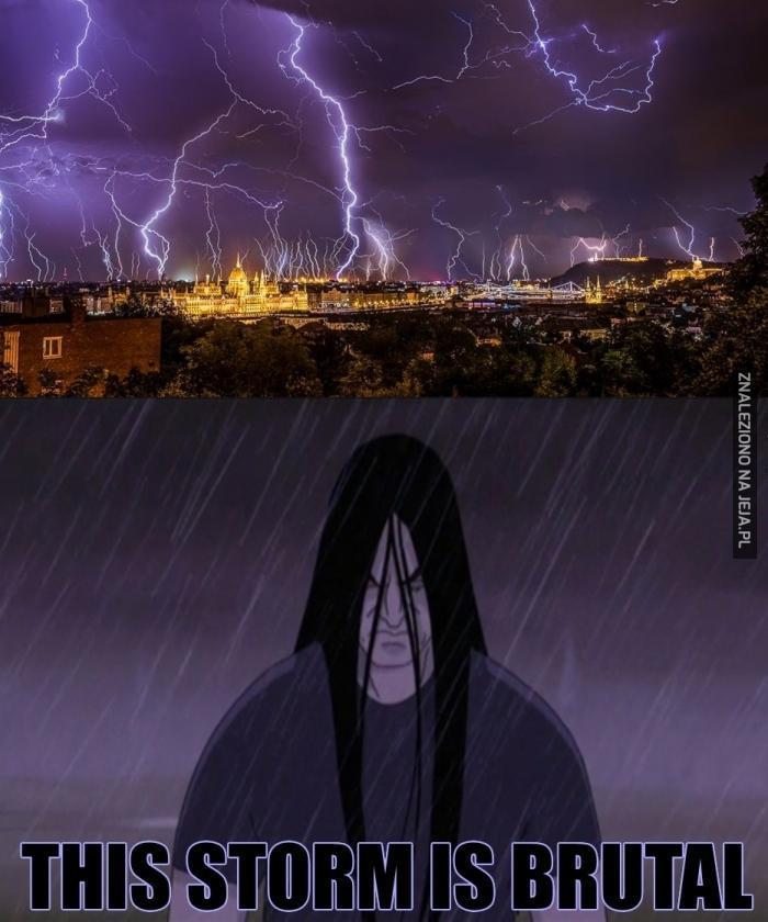 Piękna burza w swoim majestacie