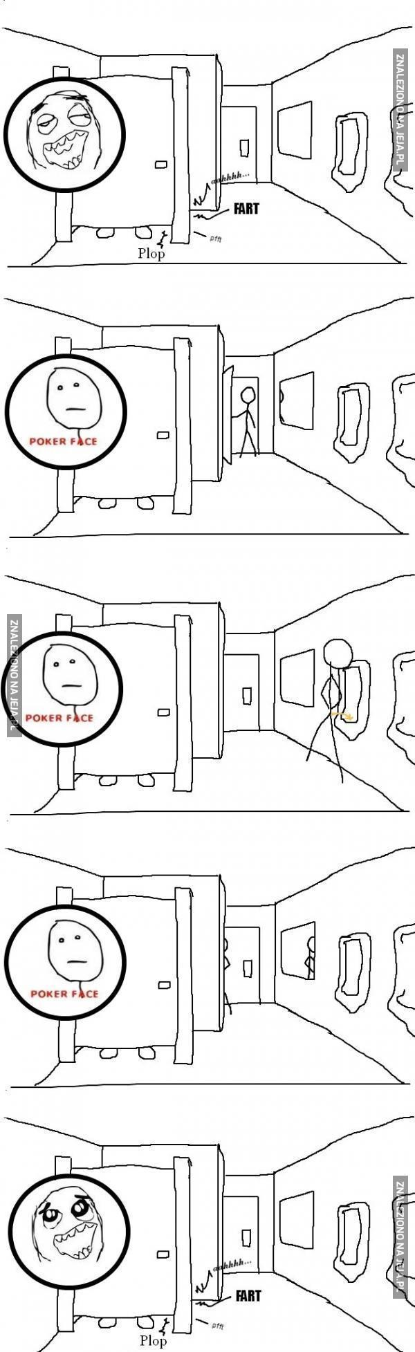 Gdy mam posiedzenie w toalecie publicznej