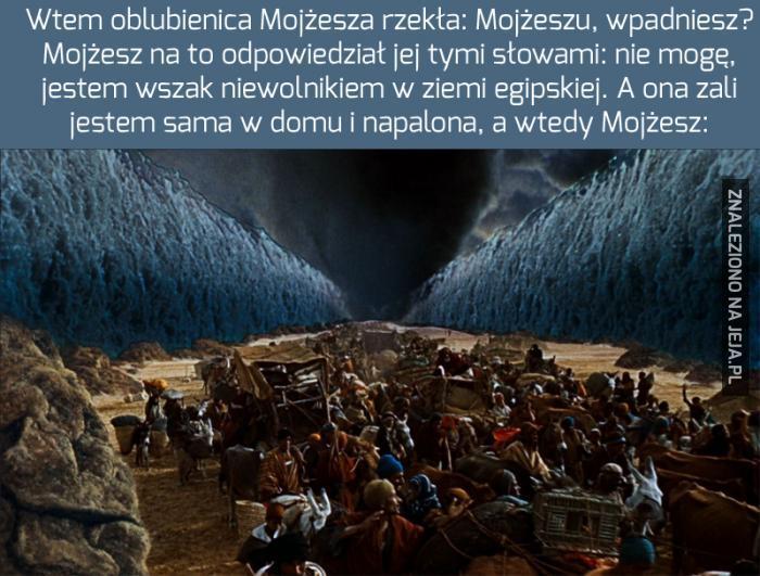 Mojżesz i historia rozstępującej się wody