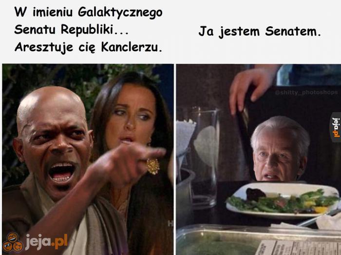 Grozisz mi, mistrzu Jedi?
