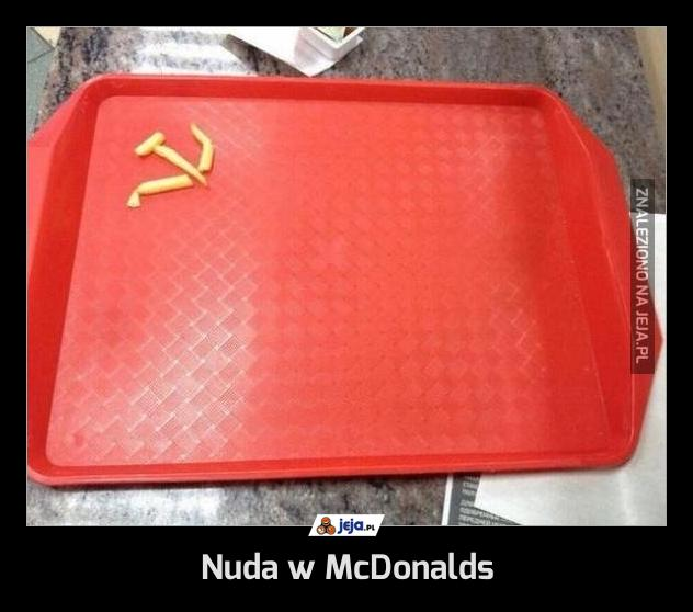 Nuda w McDonalds