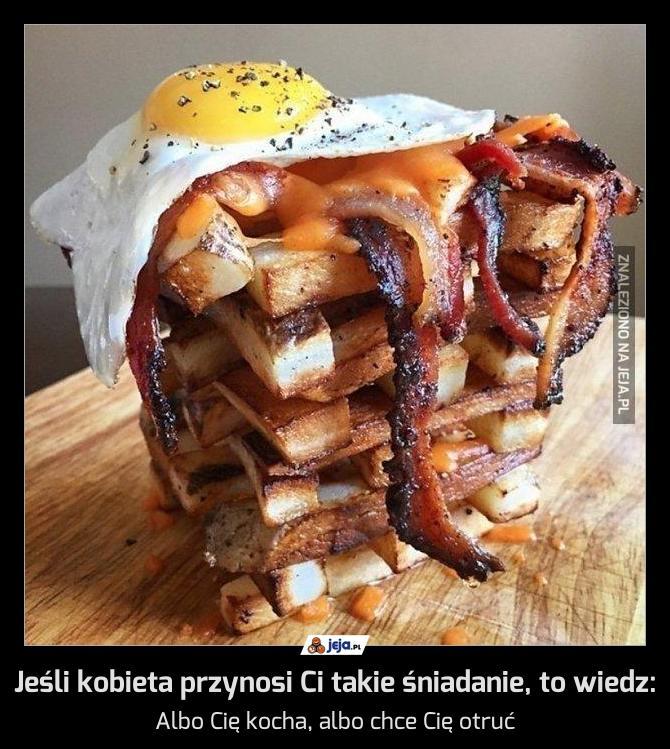Jeśli kobieta przynosi Ci takie śniadanie, to wiedz:
