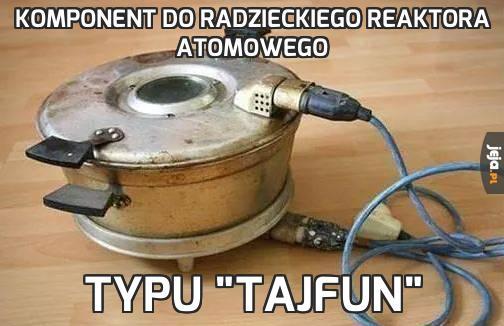 Komponent do radzieckiego reaktora atomowego
