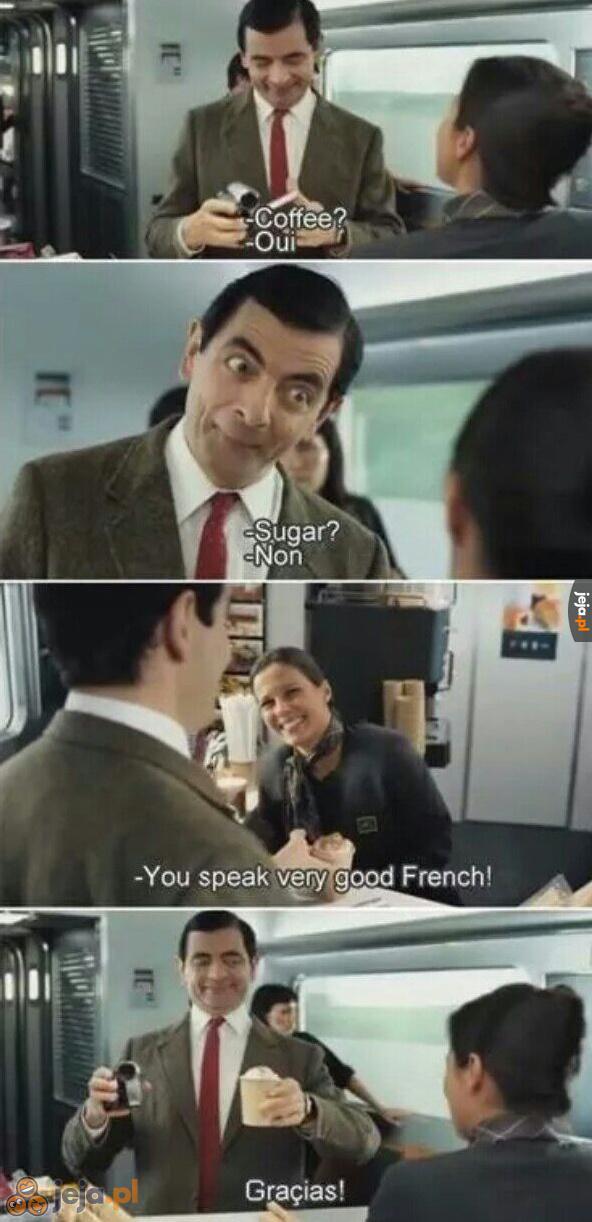 Jaś Fasola to poliglota