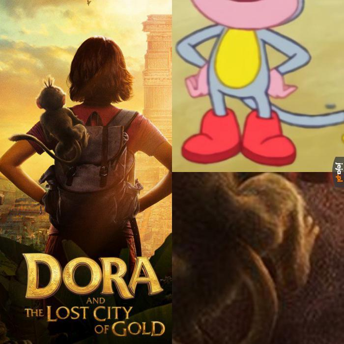 Nie postarali się, nawet Dora jest chudsza