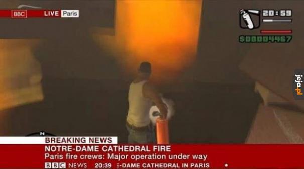 Odważny strażak
