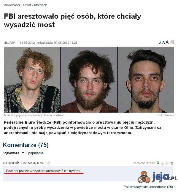 Aresztowani terroryści