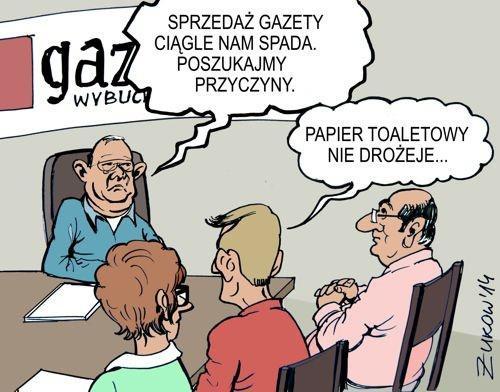 Spadek sprzedaży gazety