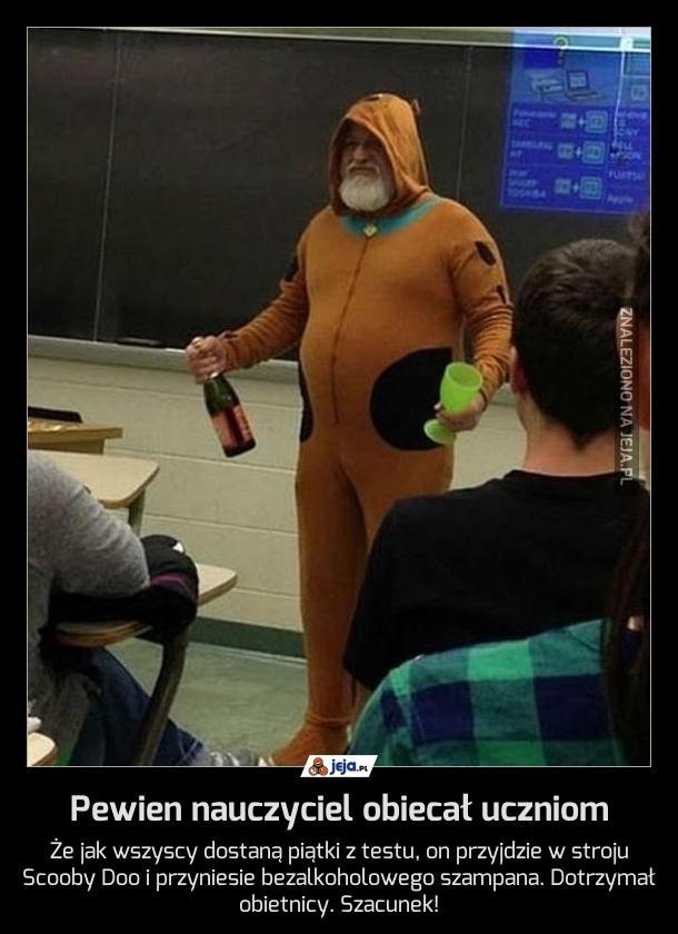 Pewien nauczyciel obiecał uczniom