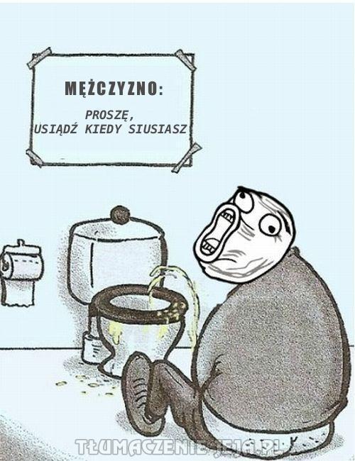 Toaletowa instrukcja dla  mężczyzn