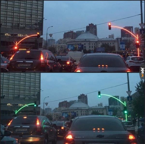 Sygnalizacja świetlna w Kijowie