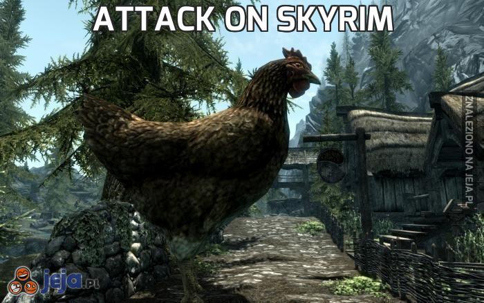 Attack on skyrim