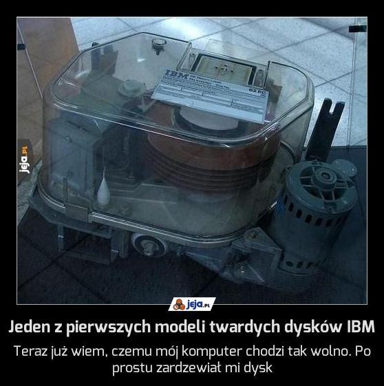 Jeden z pierwszych modeli twardych dysków IBM