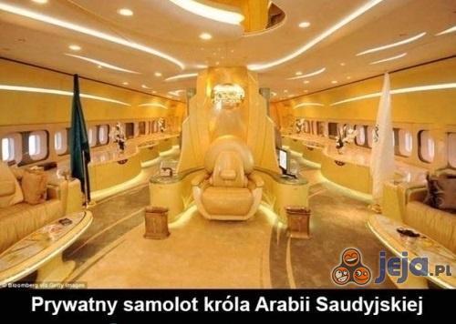 Prywatny samolot króla Arabii Saudyjskiej