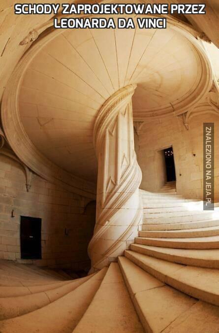Schody zaprojektowane przez Leonarda Da Vinci