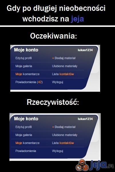 Nieobecność na jeja.pl