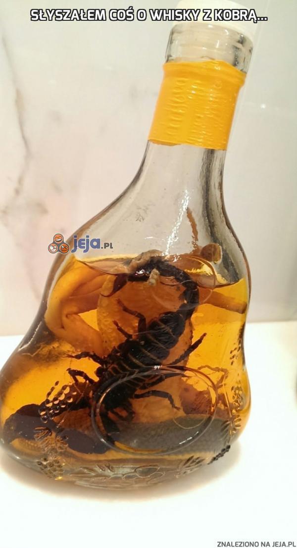 Słyszałem coś o whisky z kobrą...