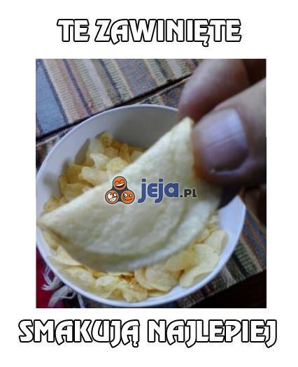 Zawinięte chipsy