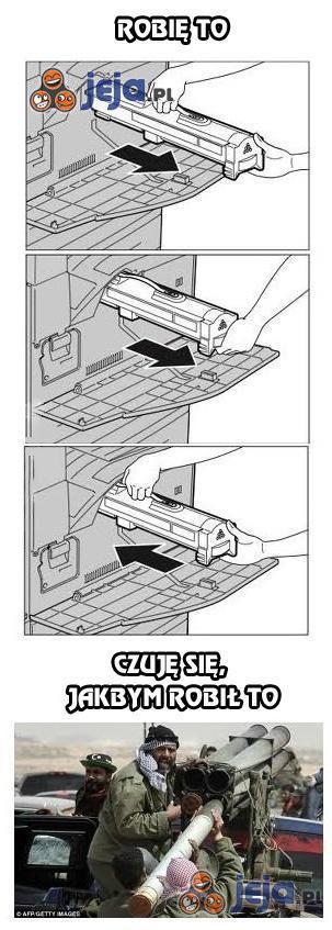Gdy wymieniam toner w drukarce