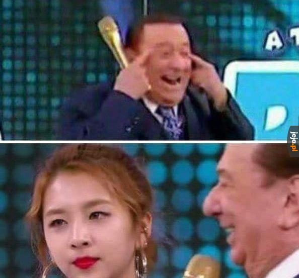 Koreanka w brazylijskiej telewizji