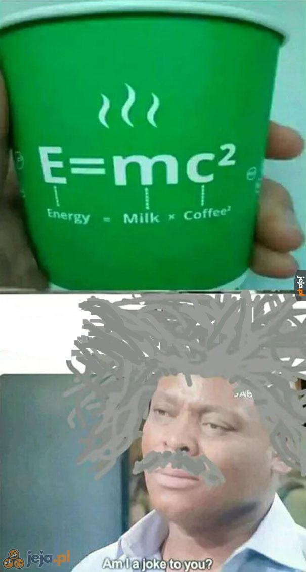 Einstein nie jest zachwycony tą kawą