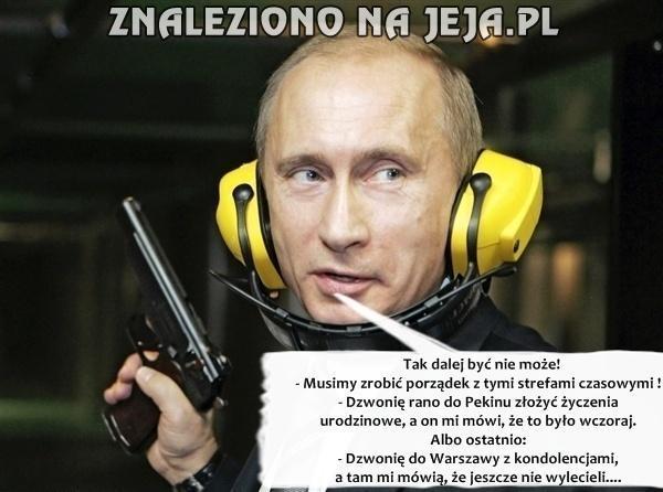 Strefy czasowe psują plany Putinowi