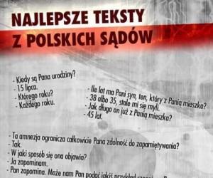 Najlepsze teksty z polskich sądów