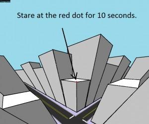 Patrz się na czerwoną kropkę przez 10 sekund