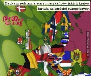 Z jakich krajów najczęściej żartują Europejczycy?
