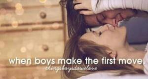 Kiedy chłopcy robią pierwszy krok