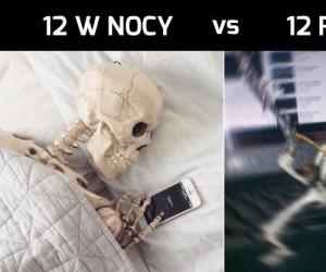 12 w nocy vs 12 rano
