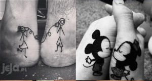 Kreatywne tatuaże zakochanych