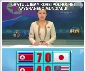 Gratulujemy Korei Północnej wygranego mundialu!