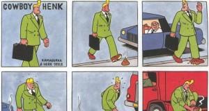 Cowboy Henk wychodząc z samochodu