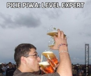 Picie piwa: Level expert