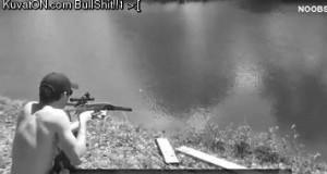Jeden strzał i rybka złapana