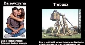 Dziewczyna vs. Trebusz