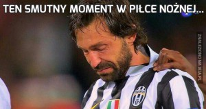 Ten smutny moment w piłce nożnej...