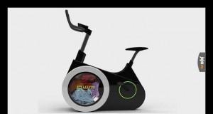 Pranie podczas jazdy rowerem treningowym