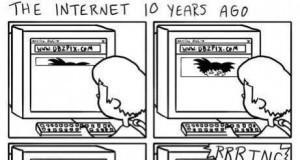 Internet 10 lat temu