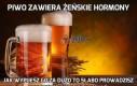Piwo zawiera żeńskie hormony
