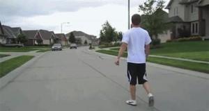 Skok przez samochód